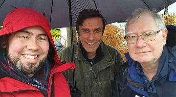 Leafleting in Kilburn in the rain